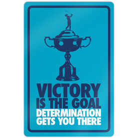 """Golf Aluminum Room Sign (18""""x12"""") Victory is the Goal Female"""