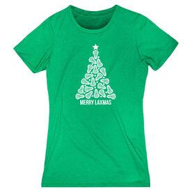 Lacrosse Women's Everyday Tee - Merry Laxmas Tree