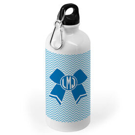 Cheerleading 20 oz. Stainless Steel Water Bottle - Monogrammed Cheer Bow