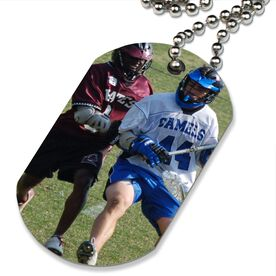 Custom Lacrosse Photo Printed Dog Tag Necklace