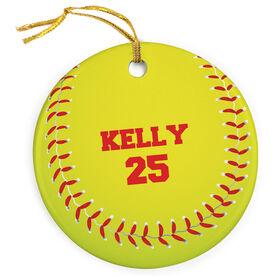 Softball Porcelain Ornament Graphic