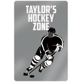 "Hockey 18"" X 12"" Aluminum Room Sign - Personalized Hockey Zone Guy"