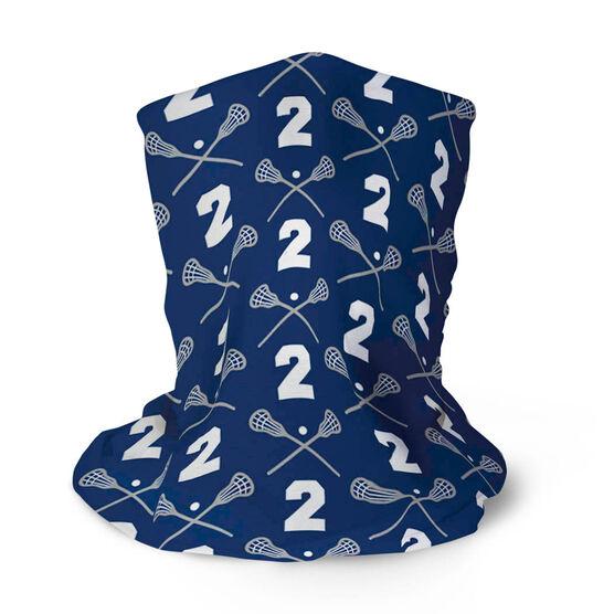 Guys Lacrosse Multifunctional Headwear - Custom Team Number Repeat RokBAND