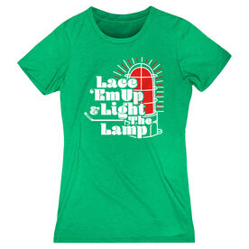 Hockey Women's Eveyday Tee - Lace 'Em Up And Light The Lamp