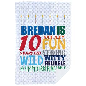 Personalized Premium Blanket - Birthday Cake Adjectives (guy)