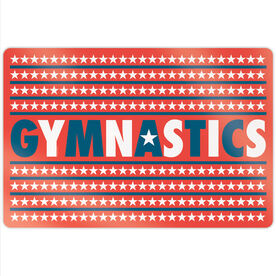 "Gymnastics 18"" X 12"" Aluminum Room Sign - Patriotic Gymnastics"