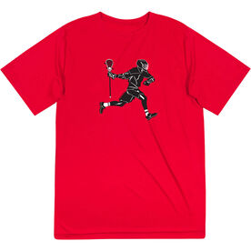 Guys Lacrosse Short Sleeve Performance Tee - Lax Player