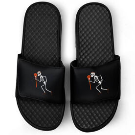 Lacrosse Black Slide Sandals - Skeleton