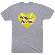 Tennis Tshirt Short Sleeve Play With Heart in Purple Glitter