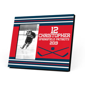 Hockey Photo Frame - Big Number Team Colors