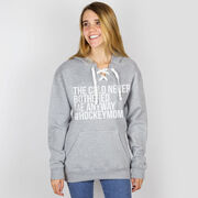 Hockey Sport Lace Sweatshirt - The Cold Never Bothered Me Anyway #HockeyMom