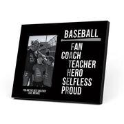 Baseball Photo Frame - Baseball Father Words
