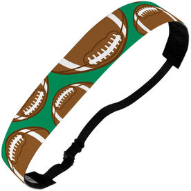 Football Julibands No-Slip Headbands - Tossed Ball Pattern