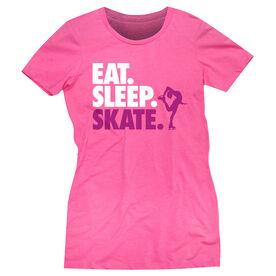 Figure Skating Women's Everyday Tee - Eat. Sleep. Skate.