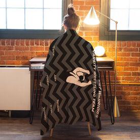 Wrestling Premium Blanket - Personalized Thanks Coach Chevron