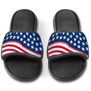 Baseball Repwell® Slide Sandals - American Flag Ball