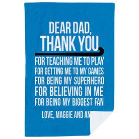 Field Hockey Premium Blanket - Dear Dad