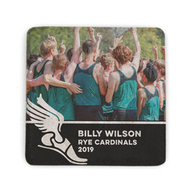 Cross Country Stone Coaster - Team Photo with Winged Foot