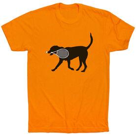 Tennis Tshirt Short Sleeve Tanner the Tennis Dog