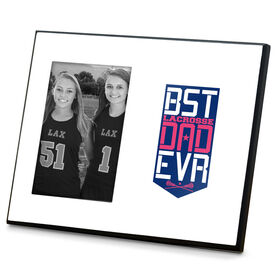 Girls Lacrosse Photo Frame - Best Dad Ever Shield