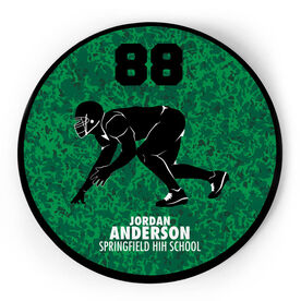 Football Circle Plaque - Linebacker With Text