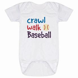 Baseball Baby One-Piece - Crawl Walk Baseball