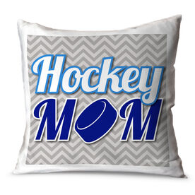 Hockey Throw Pillow Hockey Mom
