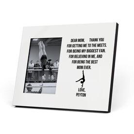 Gymnastics Photo Frame - Dear Mom Heart (Girl Gymnast)