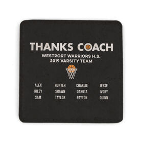 Basketball Stone Coaster - Thanks Coach Roster