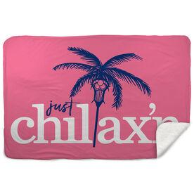 Lacrosse Sherpa Fleece Blanket - Just Chillax'n