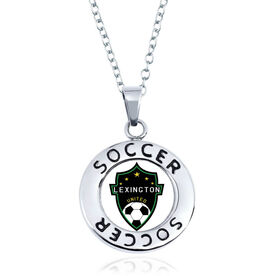 Soccer Circle Necklace - Custom Logo