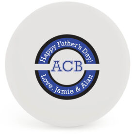 Personalized Father's Day Lacrosse Ball (White Ball)