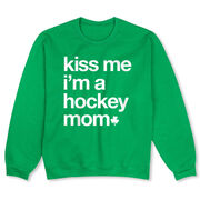 Hockey Crew Neck Sweatshirt - Kiss Me I'm a Hockey Mom