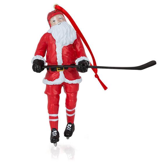 Hockey Ornament - Santa Hockey Player