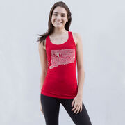 Women's Athletic Tank Top Connecticut State Runner