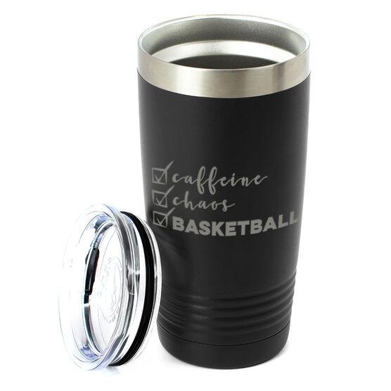 Basketball 20oz. Double Insulated Tumbler - Caffeine, Chaos and Basketball