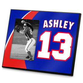 Softball Photo Frame Softball Player Name Number