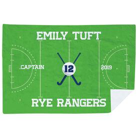 Field Hockey Premium Blanket - Personalized Field Hockey Captain