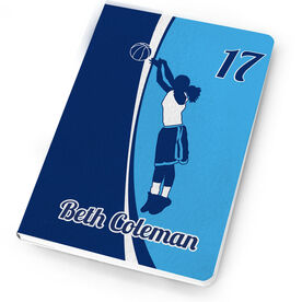 Basketball Notebook Personalized Basketball Girl with Big Number