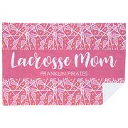 Girls Lacrosse Premium Blanket - Mom Stripe Team Name
