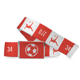 Soccer Lifestyle Belt Personalized Bicycle Kick
