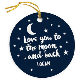 Personalized Porcelain Ornament - Love You To The Moon And Back