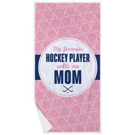 Hockey Premium Beach Towel - My Favorite Player