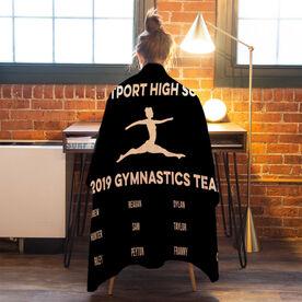 Gymnastics Premium Blanket - Team Roster