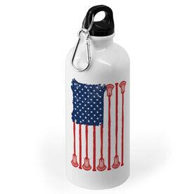 Guys Lacrosse 20 oz. Stainless Steel Water Bottle - American Flag
