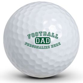 Football Dad (Block Logo) Golf Balls