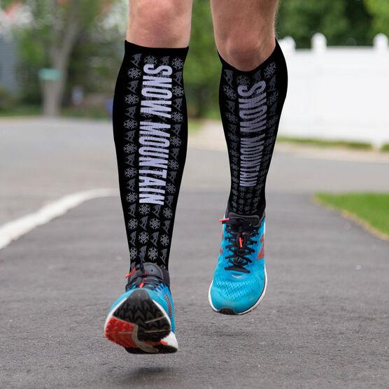 Snowboarding Printed Knee-High Socks - Team Name
