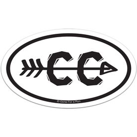 Cross Country Arrow Car Magnet - White
