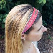 Tennis Juliband No-Slip Headband - Personalized Crossed Racquet Stripe Pattern