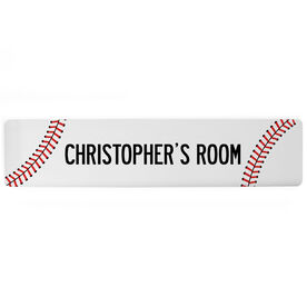 "Baseball Aluminum Room Sign - Your Room Baseball (4""x18"")"